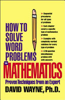 HOW TO SOLVE WORD PROBLEMS IN MATHEMATICS  EBOOK