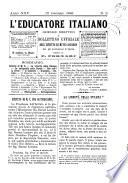 L educatore italiano giornale dell Istituto di mutuo soccorso fra gl istruttori ed educatori d Italia
