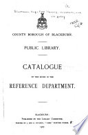 Catalogue of the Books in the Reference Department