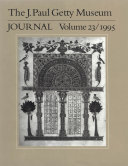 The J. Paul Getty Museum Journal 1993
