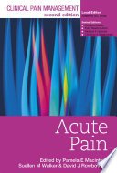 Clinical Pain Management Second Edition  Acute Pain