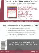 Teaching Student Centered Mathematics Access Code