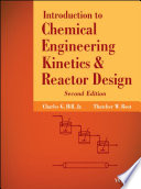 Introduction To Chemical Engineering Kinetics And Reactor Design book