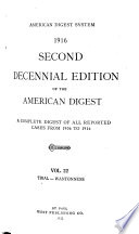 Second Decennial Edition of the American Digest Book PDF