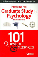 Preparing for Graduate Study in Psychology