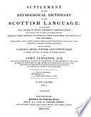 A Etymological Dictionary of the Scottish Language