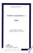Ecrits allemands - I
