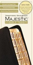 Majestic Bible Tabs  Traditional Gold Edged  Mini