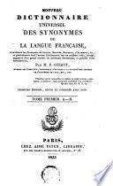 Nouveau dictionnaire universel des synonym de la langue fran  aise