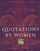 The New Beacon Book Of Quotations By Women book