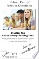Nelson Denny Practice Test Questions