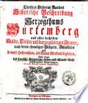 Christian Friedrich Sattlers Historische Beschreibung des Herzogtums Wurtemberg ..