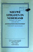Nieuwe uitgaven in Nederland