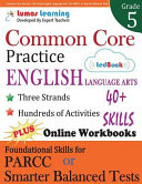 Common Core Practice   5th Grade English Language Arts