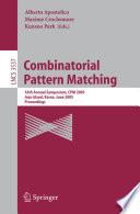 Combinatorial Pattern Matching book