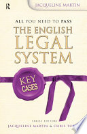 Key Cases  The English Legal System