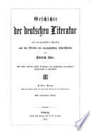 Geschichte der deutschen Literatur  Von den   ltesten Zeiten bis zum ersten Viertel des 16  Jahrhunderts