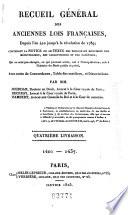 Recueil g  n  ral des anciennes lois fran  aises  depuis l an 420 jusqu    la r  volution de 1789  1415 1437
