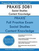 Praxis 5081 Social Studies Content Knowledge
