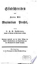 Sendschreiben an Herrn Abt Maximilian Prechtl