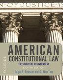 American Constitutional Law  Volume 1