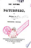 Le livre des patiences