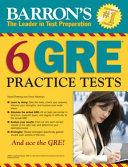 Barron s 6 GRE Practice Tests