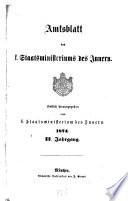 Amtsblatt des Königlichen Staatsministeriums des Innern