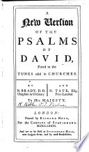 A new version of the Psalms  etc