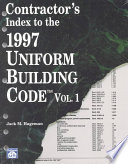 Contractor s Index to the 1997 Uniform Building Code