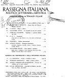 Rassegna italiana politica letteraria e artistica