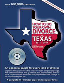 How to Do Your Own Divorce in Texas 2015 2017