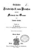 Geschichte Friedrichs II. von Preußen, genannt Friedrich der Große