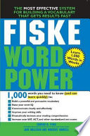 Fiske WordPower Powerful Vocabulary Opens A World Of Opportunity Building