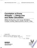 Correlation of Puma Airloads  Lifting Line and Wake Calculation