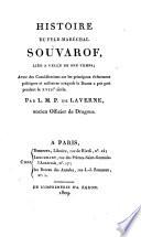 Histoire du feld-maréchal Souvarof, liée à celle de son temps