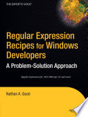 Regular Expression Recipes for Windows Developers