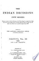 The Indian Decisions  New Series