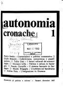 Autonomia Cronache