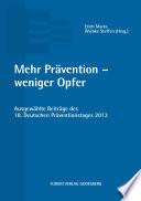 Mehr Prävention - weniger Opfer