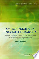 Option Pricing in Incomplete Markets