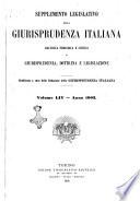 Supplemento legislativo della Giurisprudenza italiana raccolta periodica e critica di giurisprudenza  dottrina e legislazione
