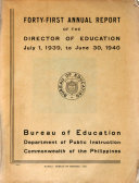Annual Report of the Director of Education