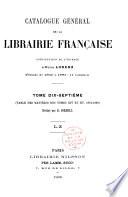 Catalogue g  n  ral de la librairie fran  aise