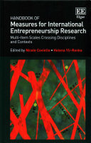 Handbook of measures for international entrepreneurship