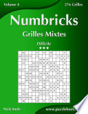 illustration Numbricks Grilles Mixtes - Difficile - Volume 4 - 276 Grilles