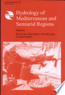Hydrology of Mediterranean and Semiarid Regions