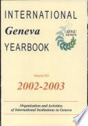 International Geneva Yearbook book