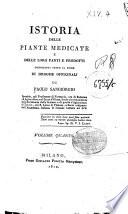 Istoria delle piante medicate e delle loro parti e prodotti conosciuti sotto il nome di droghe officinali di Paolo Sangiorgio     Volume primo   quarto