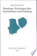 Hamburger Vorlesungen Ber Psychoanalyse Und Erziehung